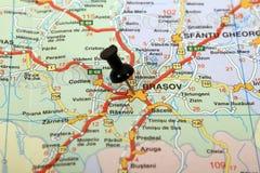 brasov mapa Romania Fotografia Royalty Free