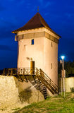 Brasov medieval fortress tower, Transylvania, Romania stock photos