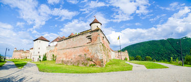 Brasov medieval fortress in Transylvania region of Romania Royalty Free Stock Photo