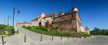Brasov medieval fortress walls, Romania stock photo