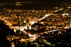 Brasov-nacht mening Stock Afbeeldingen