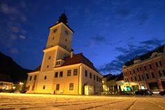 Brasov at Night Royalty Free Stock Photography