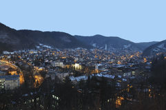 Brasov night cityscape Royalty Free Stock Images