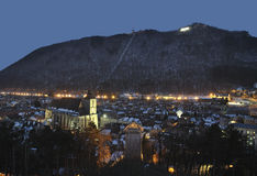 Brasov night cityscape Royalty Free Stock Photos