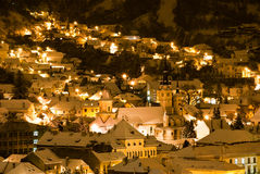 Brasov, night view Royalty Free Stock Photos