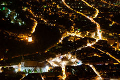 Brasov-night view Royalty Free Stock Images
