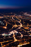 Brasov-night view Royalty Free Stock Image