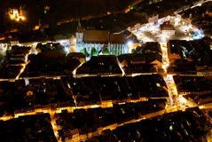 Brasov-night view Stock Photography