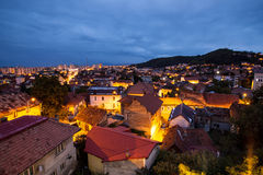 Brasov by night Stock Photos