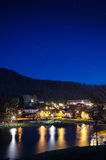 Brasov, Noua Lake. A beautiful night in Brasov, Romania. Picture taken in pitch black Stock Photos