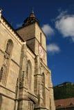 Brasov old black church and brasov sign Royalty Free Stock Photo