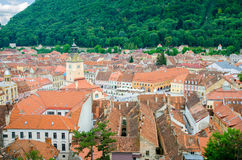 Brasov old center view from above Stock Image