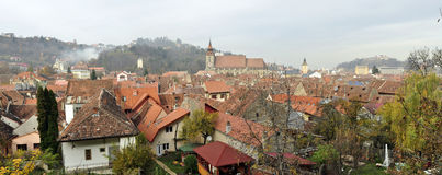 Brasov old city panorama Stock Photo