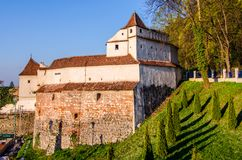 Brasov old fortification tower-Weavers bastion stock photography