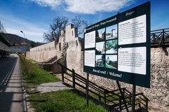 Brasov old stronghold wall Stock Photography