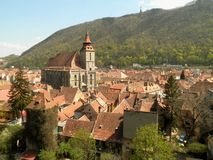 Brasov Old Town. View of the old town of Brasov, Romania royalty free stock image