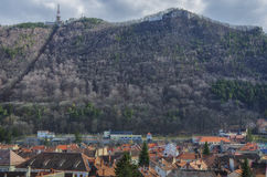 Brasov old town panorama royalty free stock images