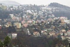 Brasov, oude stad in de winter Royalty-vrije Stock Foto's