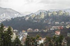 Brasov, oude stad in de winter Stock Foto's