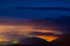 Brasov overview royalty free stock photo