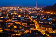 Brasov overview royalty free stock images
