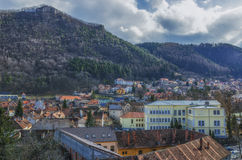 Brasov panoramic view stock photography