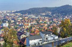 Brasov panoramic view royalty free stock photos