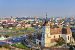 Brasov panoramic view royalty free stock images