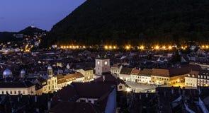 Brasov rådfyrkant transylvania Rumänien arkivfoto