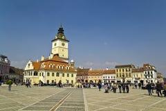 Brasov Rathausplatz lizenzfreies stockfoto