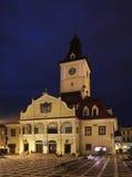 Brasov-Rats-Gebäude auf Piata Sfatului rumänien lizenzfreies stockbild