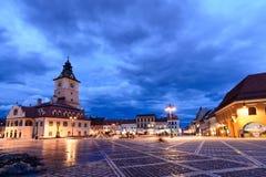 Brasov, Roemenië - Februari 23: Het de Raad Vierkant op 23 Februari Royalty-vrije Stock Foto's