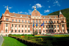 Brasov, Romania. Located in the central part of Romania, Brasov provides a mix of wonderful mountain scenery and medieval history with German influences in the royalty free stock image