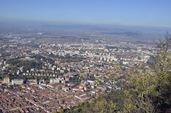 Brasov, Romania, aerial view Royalty Free Stock Photo