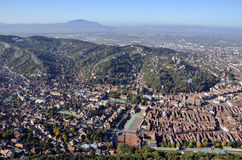 Brasov, Romania, aerial view Stock Photography