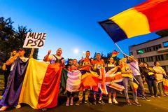 Brasov, Romania. Romanians protest against the gover Royalty Free Stock Image