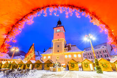 Free Brasov, Romania - Christmas Market In Transylvania Royalty Free Stock Photo - 83421395