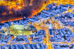 Brasov, Romania, Christmas Market in Transylvania, Europe royalty free stock photography