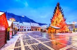 Brasov, Romania - Christmas Market in Transylvania Royalty Free Stock Image