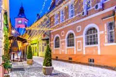 Brasov, Romania - Christmas Market in Transylvania Royalty Free Stock Photography