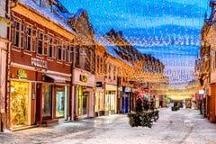 Brasov, Christmas Market, Romania royalty free stock photos