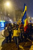Brasov,Romania: All for justice protest December 2017. Brasov, Romania - December 17, 2017: Thousands of Romanians protesting against governing coalition and its Royalty Free Stock Images