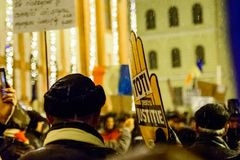 Brasov,Romania: All for justice protest December 2017 Royalty Free Stock Image