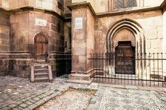 Brasov Romania della chiesa nera Immagine Stock