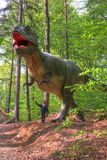 BRASOV, ROMANIA - JUNE 2015: Real-sized dinosaurs at Rasnov Dino Stock Photography