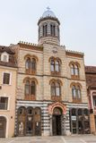 Building of the Holy Sleepy Church of Our Lady in the Square of Council Market in the Old Town of Brasov in Romania Royalty Free Stock Image