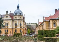 Building of Metropolitan Agency near to the Old Town of Brasov in Romania Stock Image