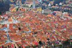 Brasov, Romania, odgórny widok Zdjęcie Royalty Free