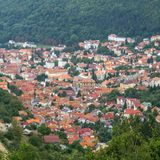 Brasov, Romania. Old center view from above Stock Photo