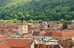 Landmark attraction in Brasov, Romania. Old town and The Council Square. Landmark attraction in Brasov, Romania - old town with The Council Square Royalty Free Stock Photos